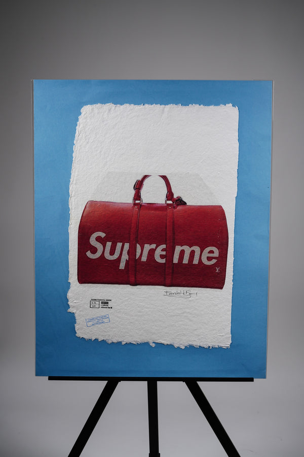 Supreme X Louis Vuitton Keepall Bandouliere Duffle Bag 45 Print