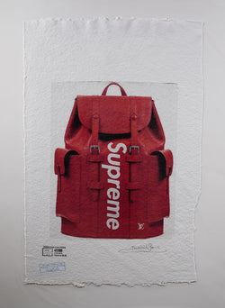 Supreme X Louis Vuitton Christopher PM Backpack Print