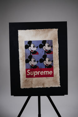 "Mickey Mouse X Supreme ""Warhol Inspired"" Print"