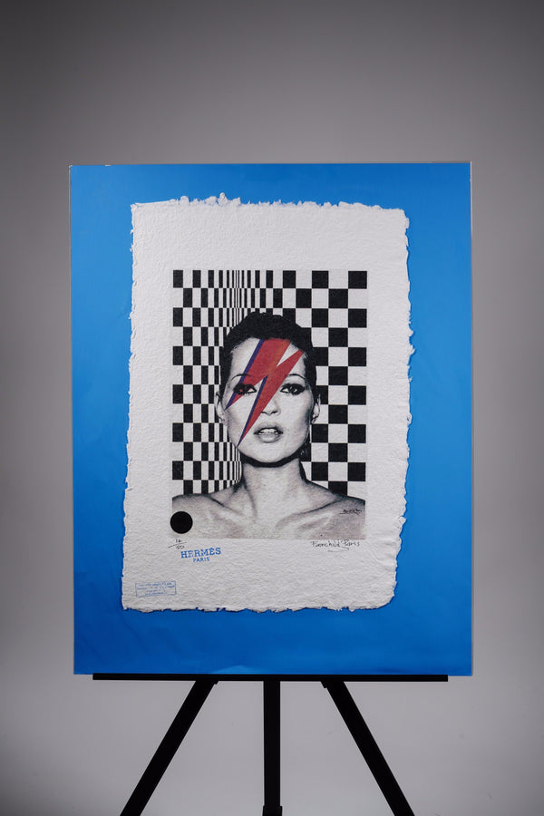 "Kate Moss ""Bowie"" Print"