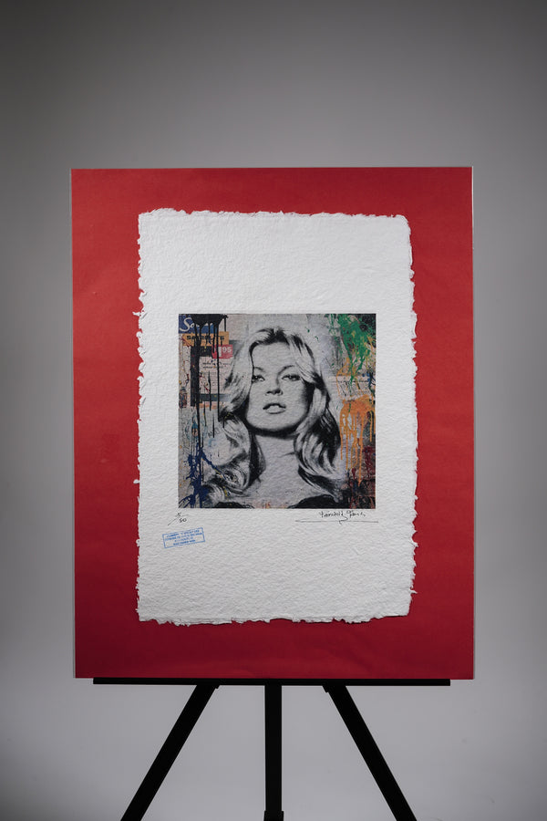 "Kate Moss ""Spray Paint"" Print"