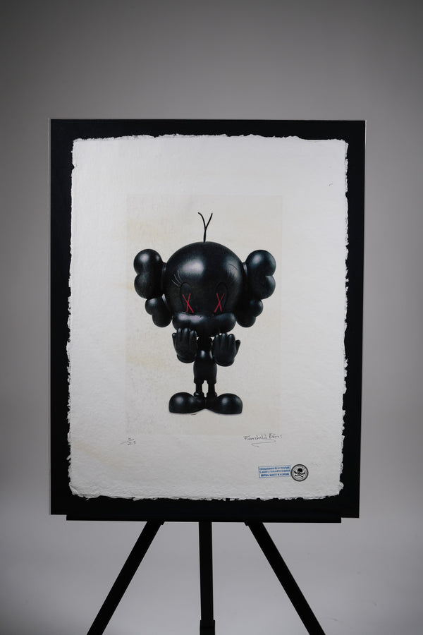 "KAWS ""Black Tweety"" Print"