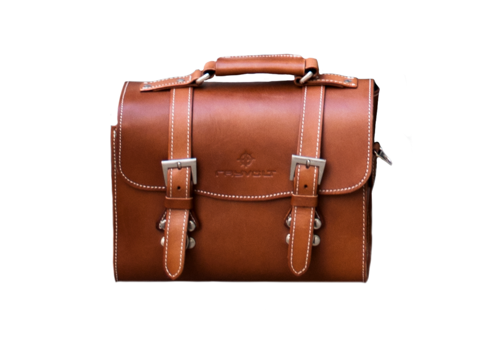 Cruzer Genuine Leather Rear Bag | Rayvolt Premium E Bikes