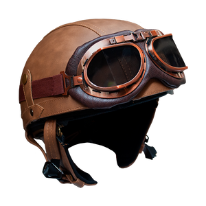 Leather Helmet - 1/2 Face | Rayvolt Premium E Bikes