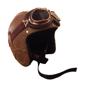 Leather Helmet - 3/4 Face | Rayvolt Premium E Bikes