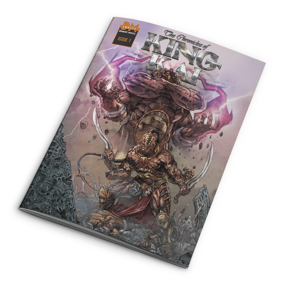 Chronicles of King Kai: Issue #1 Autographed+ Black Sleeveless King Kai Hoodie