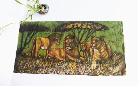 Lion & Lioness Oil Painting
