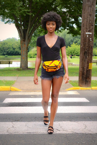 African Printed Fanny Pack