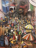 Haitian City Oil Painting