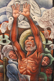Man With Arms Up Oil Painting