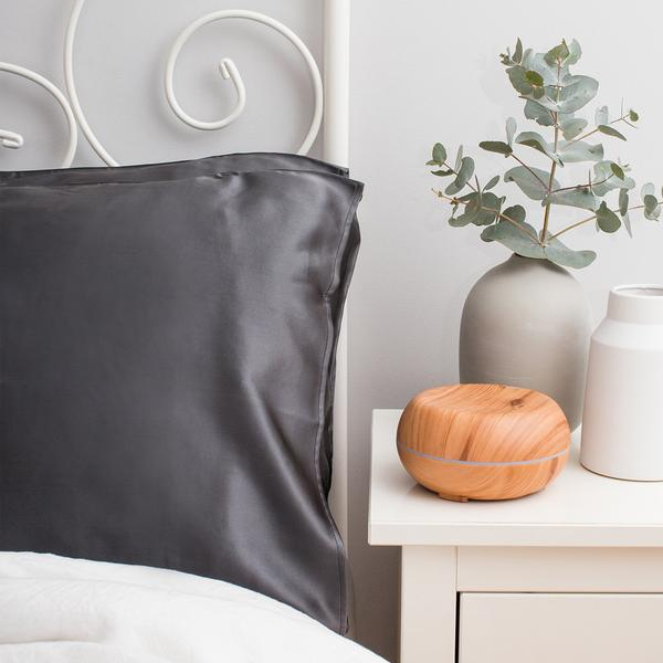 Twin Silk Pillowcase Charcoal