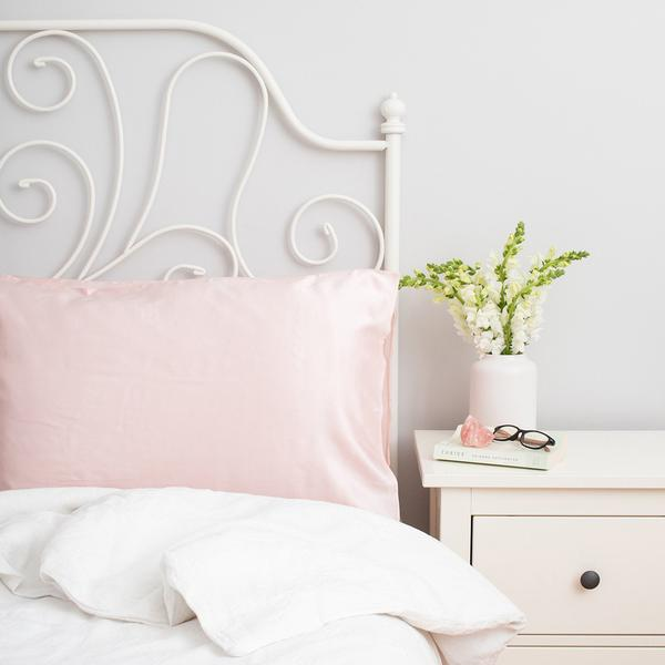 Twin Silk Pillowcase Pink