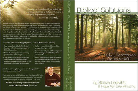 Anxiety/Depression - A complete Biblical Solutions to Emotional Distress System Pack. Includes all of Hope for Life's emotional distress resources
