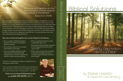 Anxiety/Depression - Biblical Solutions to Anxiety, Depression, Stress and Fear - 5 CD Series
