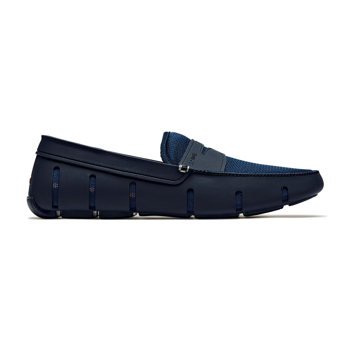 Penny Loafer - background::white,variant::Navy