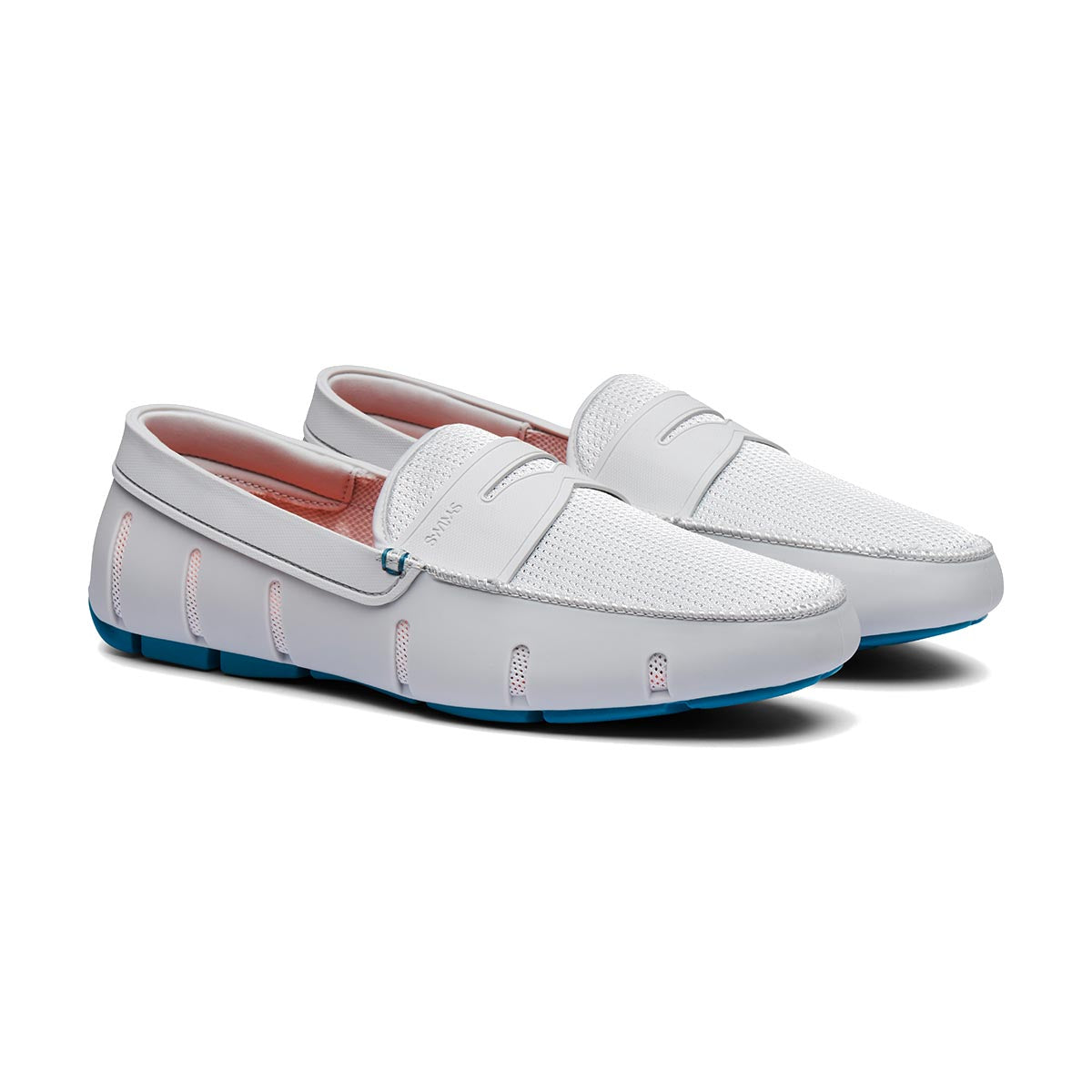 Penny Loafer - background::white,variant::Glacier Gray/Turkish Tile