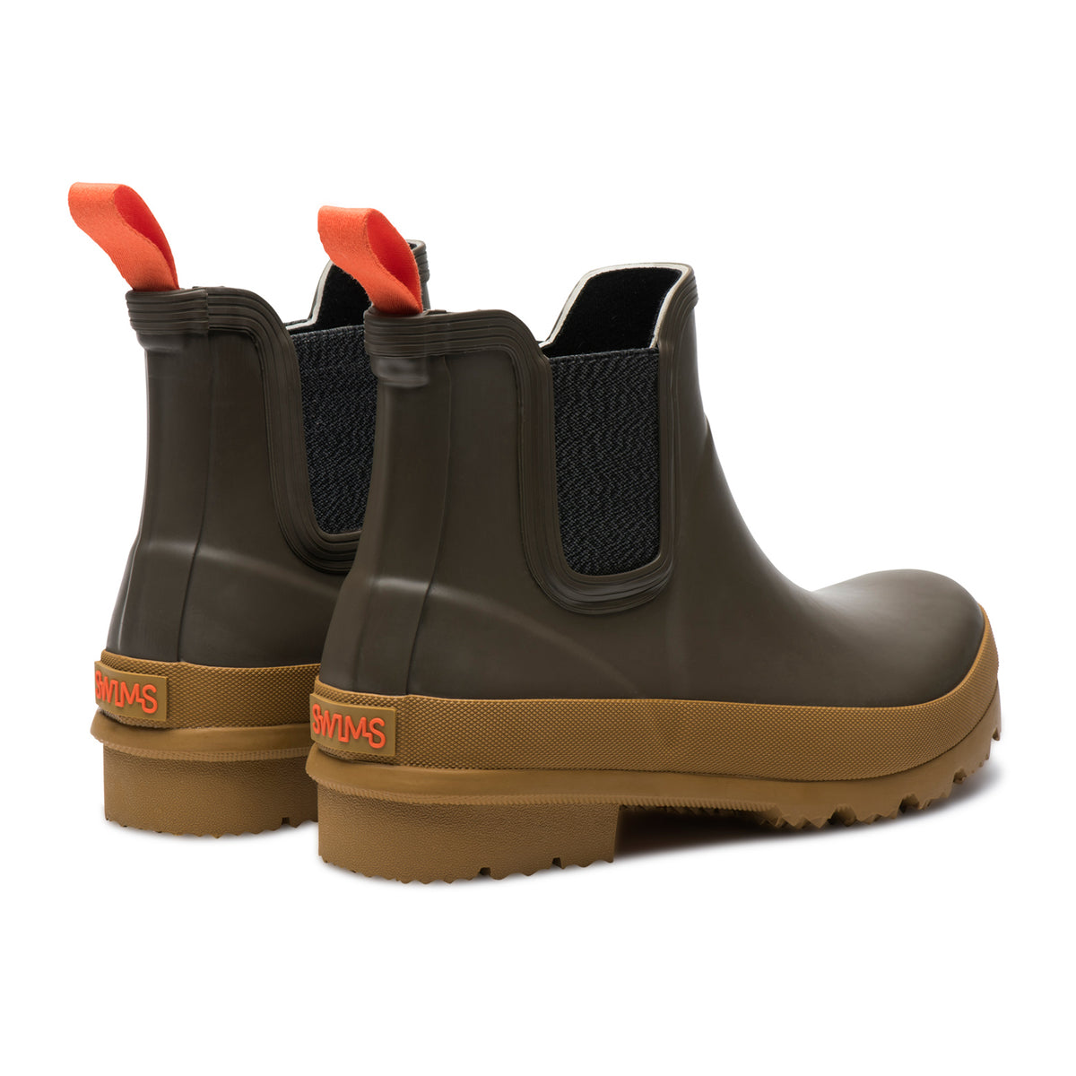 Charlie Rain Boot - background::white,variant::Taupe/Biscuit