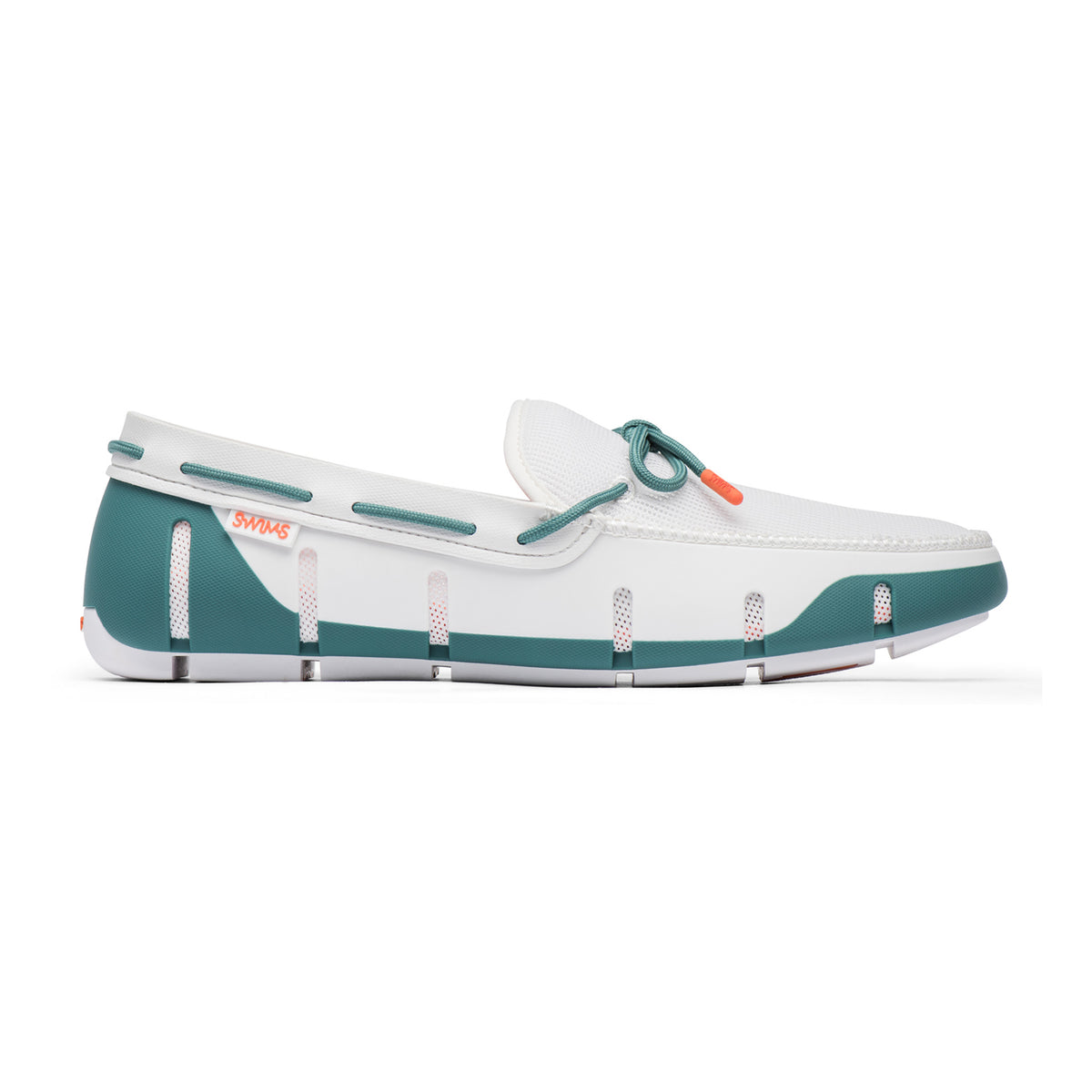 Stride Lace Loafer - background::white,variant::White/Teal