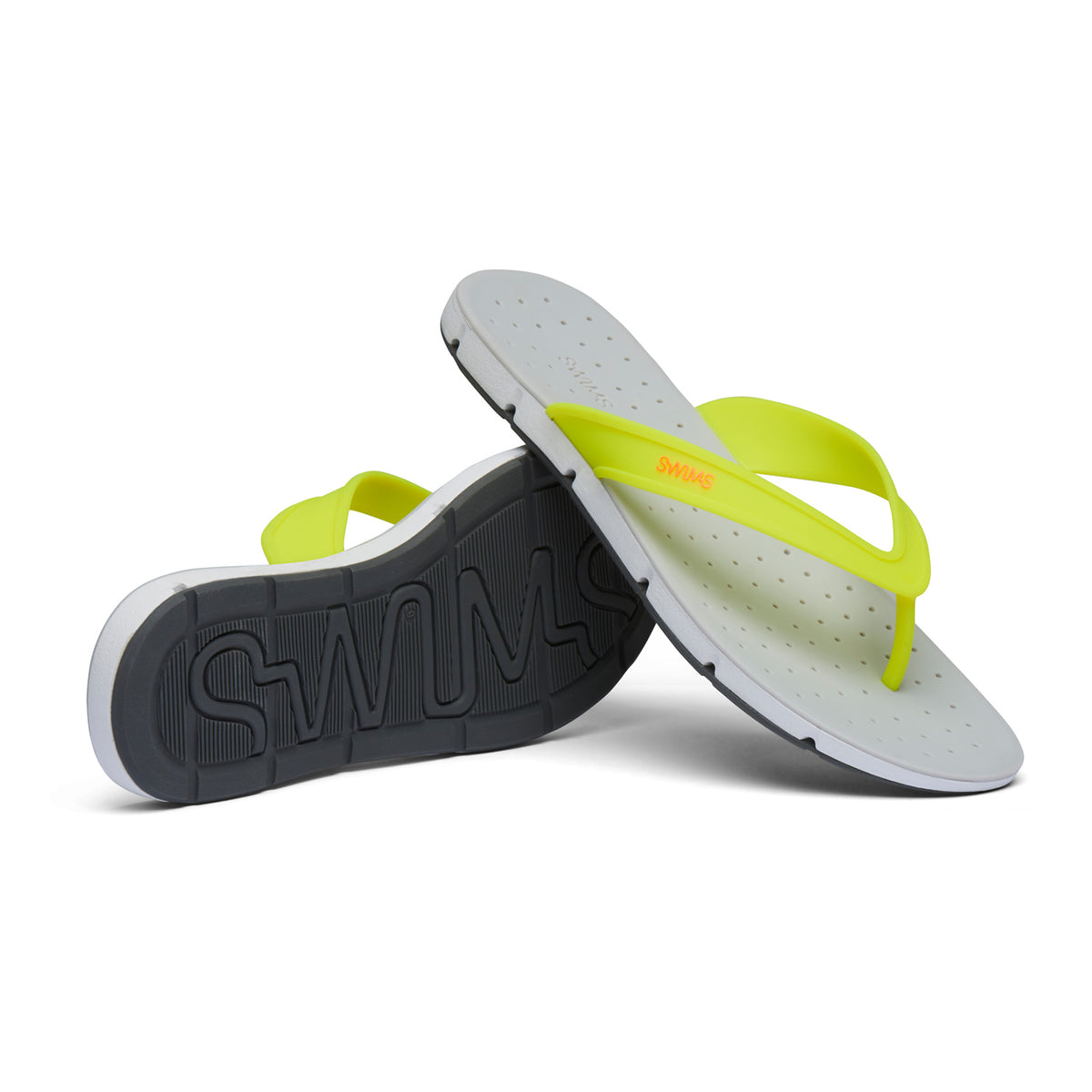 Breeze Thong Sandal - background::white,variant::Limeade/Alloy