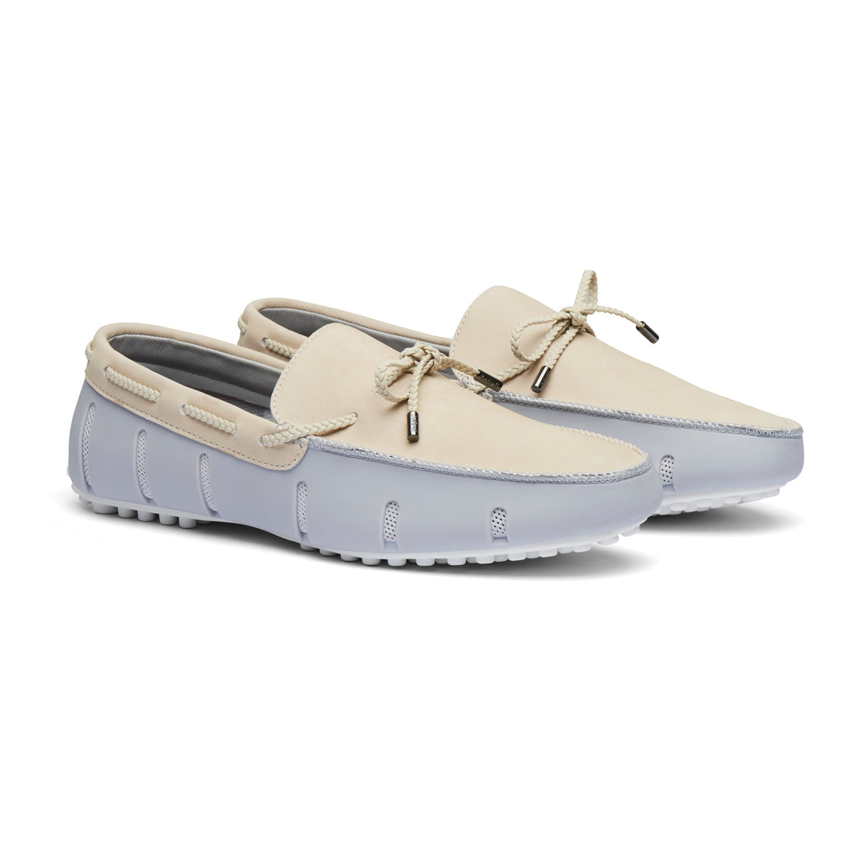 Braided Lace Lux Loafer Driver Nubuck - background::white,variant::Alloy/Pristine