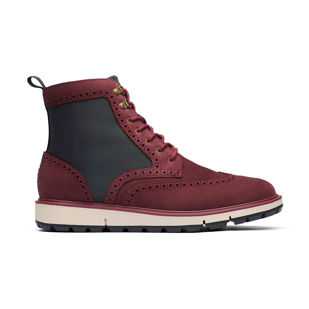 Motion Wing Tip Boot - background::white,variant::Cabernet/Gray/Black