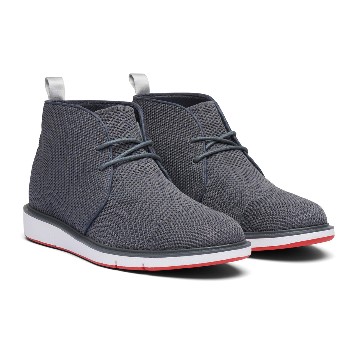 Motion Knit Chukka - background::white,variant::Gray/Red Alert