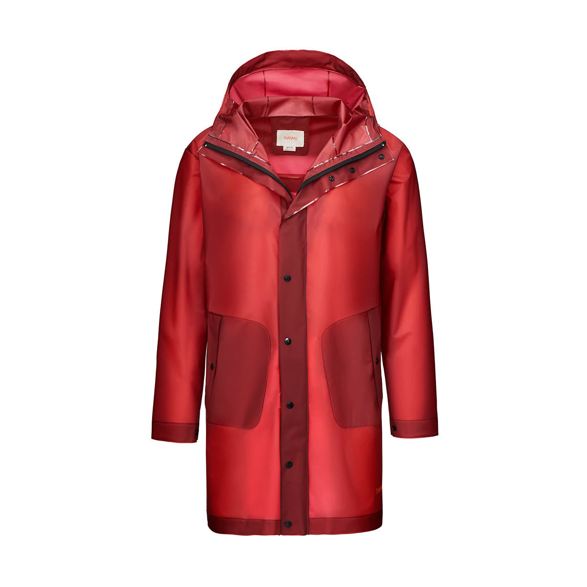 Basel Raincoat - background::white,variant::Red