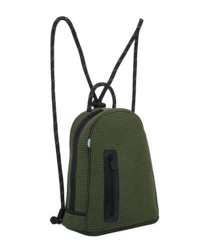 Kat chuchka neoprene backpack in khaki