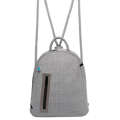 Kimi Neoprene Backpack (Heathered Grey)