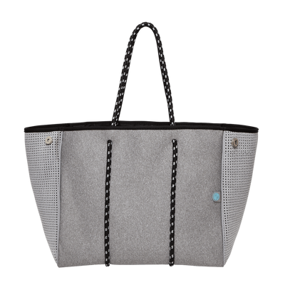 Granite Grey Neoprene Tote Bag - $119 | CHUCHKA