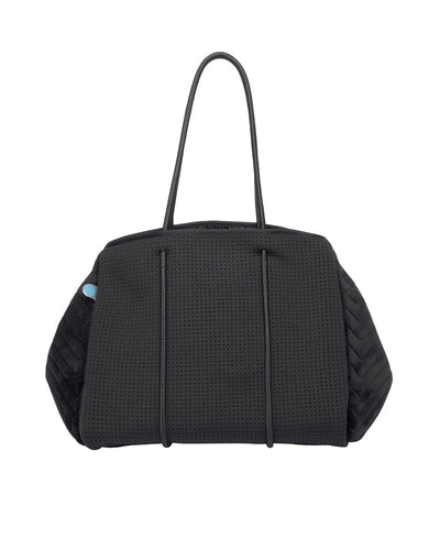 Asha Neoprene Bag (Black Velvet Quilted) | $129 SD | CHUCHKA