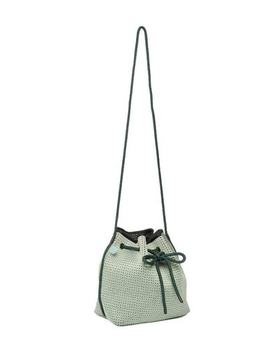 Gabi Green Neoprene Bucket Bag - Chuchka