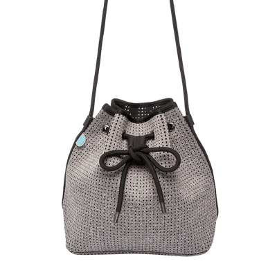 Mel Grey Neoprene Bucket Bag - Chuchka