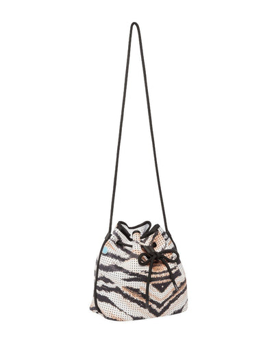 Ronia chuchka neoprene bucket bag in tiger - side