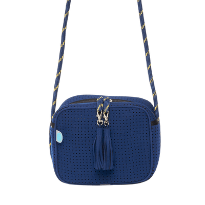 In The Navy Neoprene Crossbody Bag