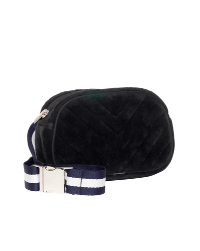 Allora Velvet Bum Bag (Black)