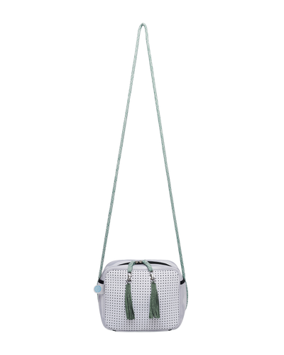 Lyla Neoprene Crossbody Bag (White/Green) - Chuchka