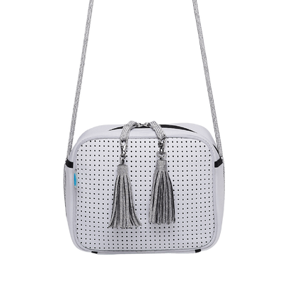 Nina Neoprene Crossbody Bag (White) - Chuchka