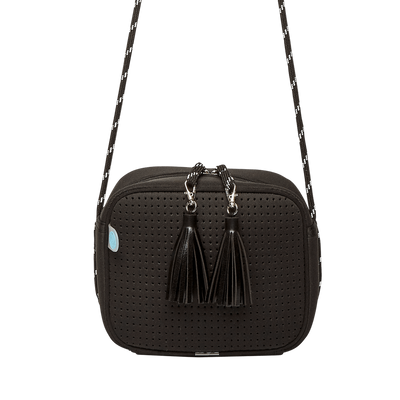 Noir Neoprene Crossbody Bag