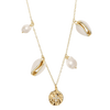 starfish charm gold shell and pearl necklace - chuchka jewellery