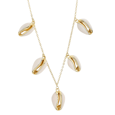 gold shell necklace by chuchka australia