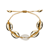 gold shell bracelet by chuchka