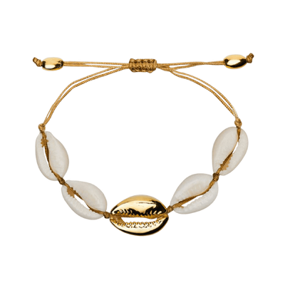 gold shell bracelet by chuchka australia with middle gold shell - chuchka australia