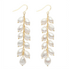 multi pearl drop earrings - chuchka