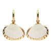 gold rimmed shell earrings - chuchka
