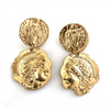 gold Roman drop earrings - chuchka australia