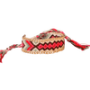 braided friendship bracelet with multi colour woven thread pattern - chuchka jewellery