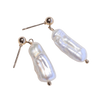 rustic single pearl earrings by chuchka australia