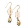 gold shell earrings  by chuchka