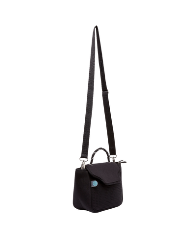 Bianca Neoprene Crossbody Bag (Black)